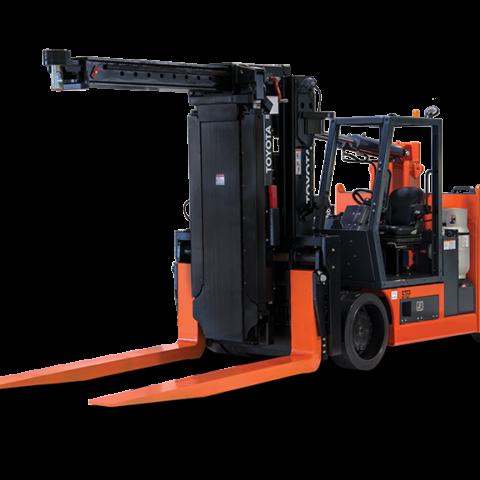 toyota high capacity adjustable wheelbase forklift